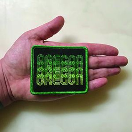 Green Oregon Fade Iron-On Patch