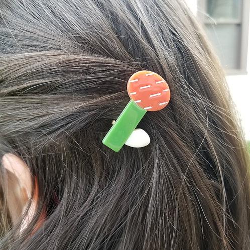 Flower Stem Hair Clip