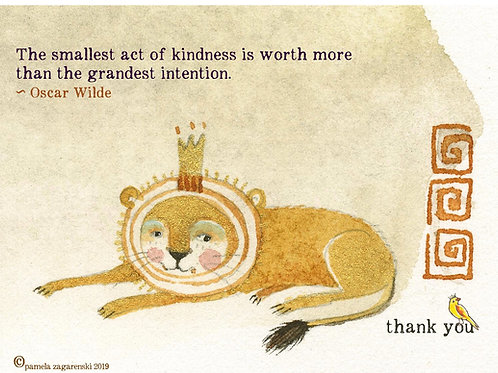 Thank You Card - Lion