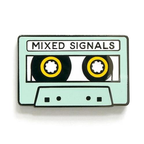 Mixed Signals Enamel Pin