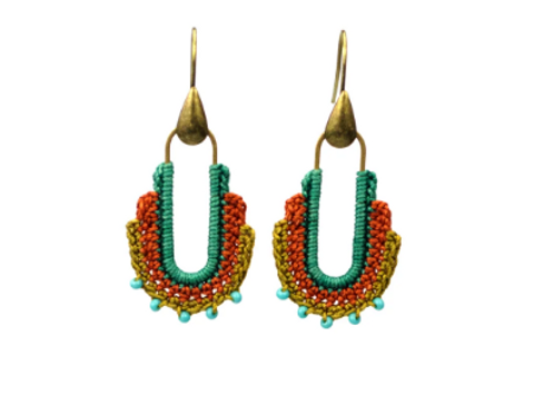 Moss Guadalupe Hoops Teal/orange/gold
