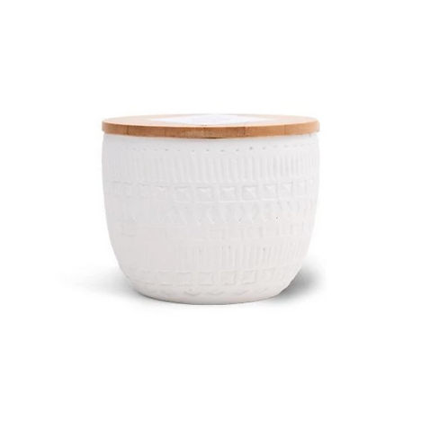 Cotton and Teak Candle