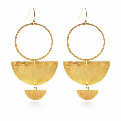 Double Half Moon Earrings