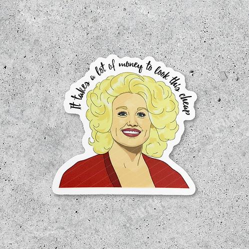 Dolly Parton Cheap Sticker
