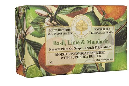 Basil, Lime And Mandarin Bar Soap
