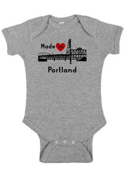 Made In Portland Onsie Heather