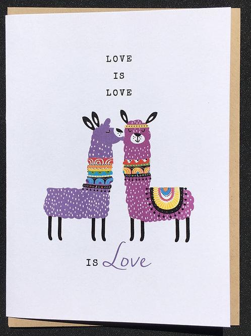 Llama Anniversary Card