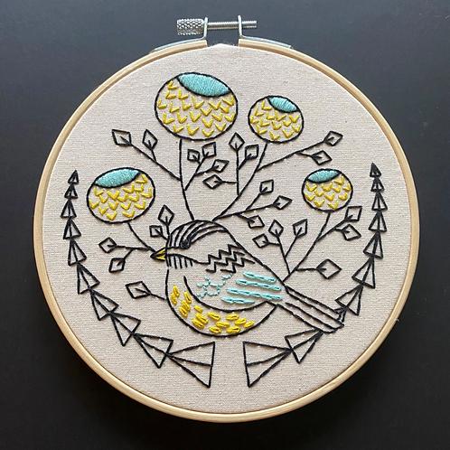 Chickadee Embroidery Kit