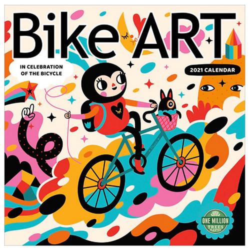Bike Art 2021 Wall Calendar