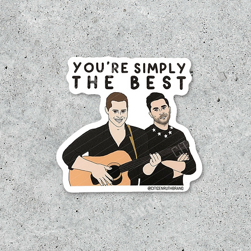 Simply The Best Sticker