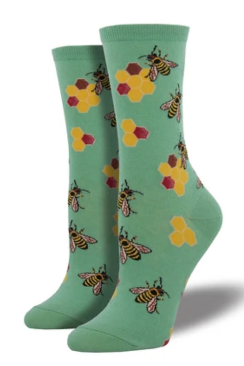 Busy Bees Socks - Women's