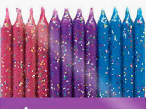 Glitter Birthday Candles
