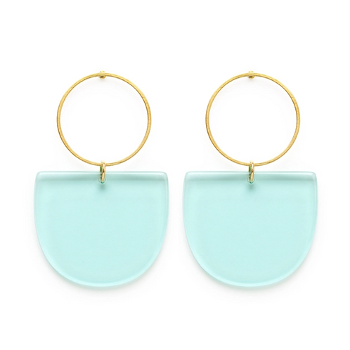 Mod Blue Earrings