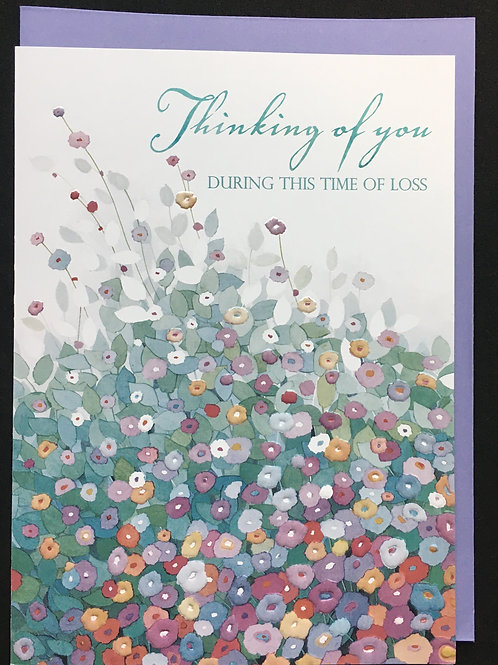 Floral Thinking of You Sympathy Card