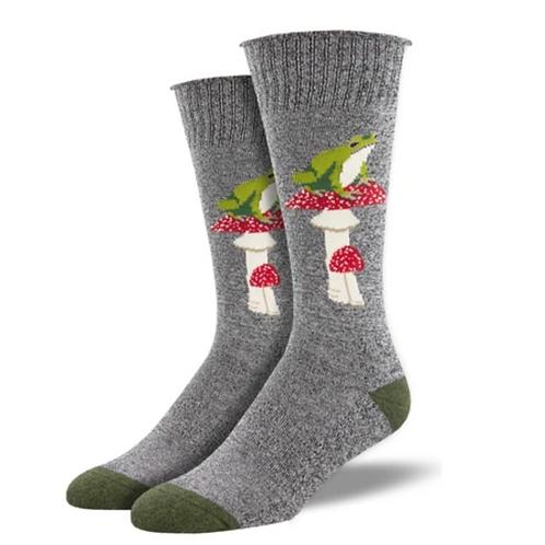 """Toad Stools""Socks-Grey"