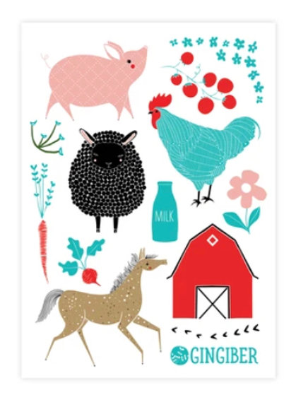 Farm Charm Sticker Sheet