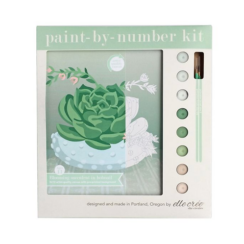 Blooming Succulent Paint-By-Numbers
