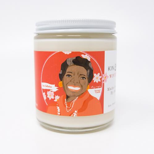 Maya Angelou Winter Rose Candle
