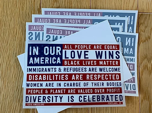 In Our America Window Cling