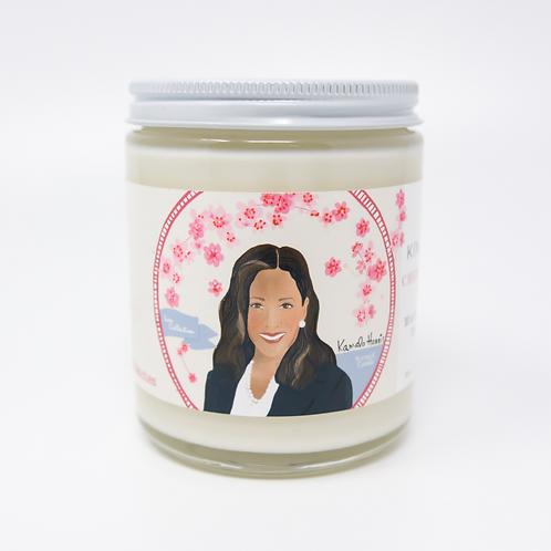 Kamala Harris Cherry Blossom Candle