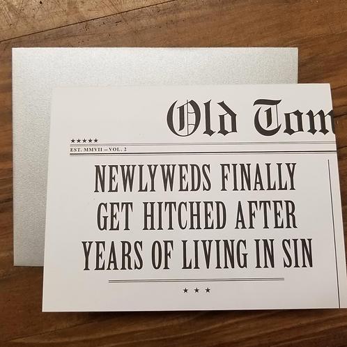 Living In Sin/ Wedding Card