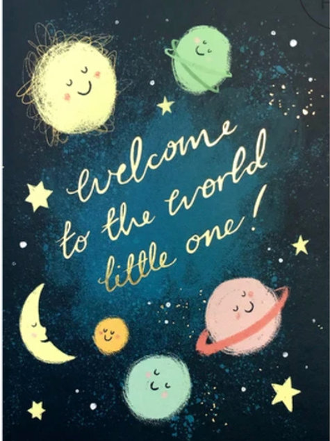 New Baby Card - Planets