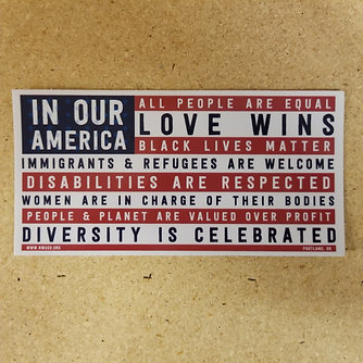 In Our America Sticker