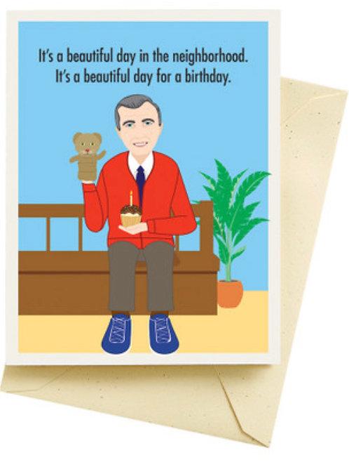 Mr. Rogers Birthday Card