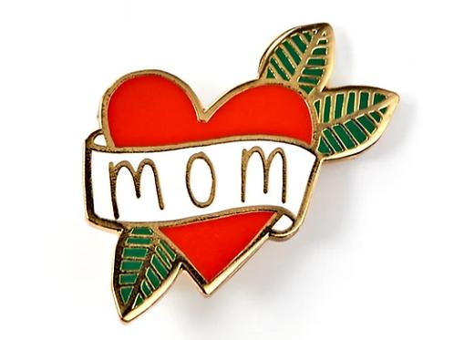 Mom Tattoo Enamel Pin