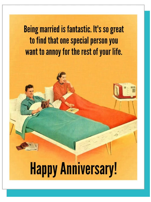 Anniversary Card - Couple in bed