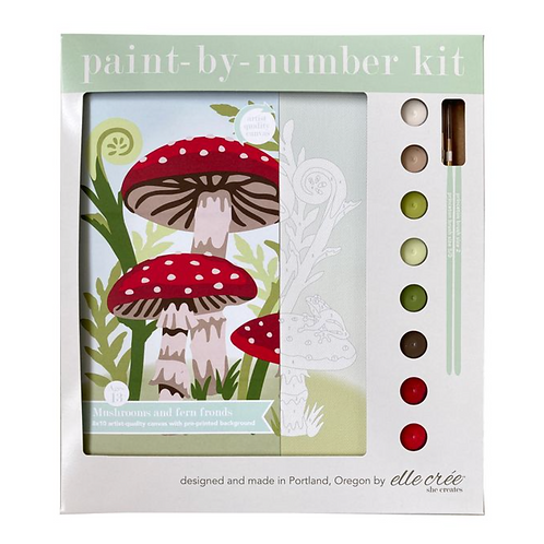 Mushroom Paint-By-Numbers