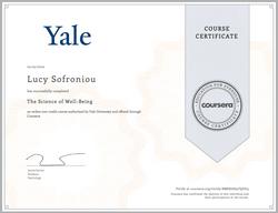 Yale Certificate