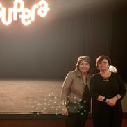 Lina Menezes (Tudo sobre Alzheimer) e a palestrante Sônia Brucki