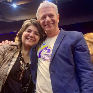 Eu (Lina Menezes) com o querido idealizador do método Supera, Antonio Carlos