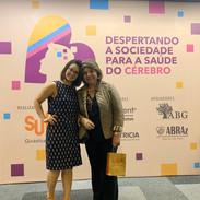 Ana Luisa Rosas, diretora científica da ABRAz SP e Lina Menezes (Tudo sobre Alzheimer)