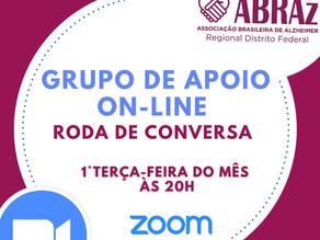 Grupo de apoio ABRAz-DF tem reunião online.