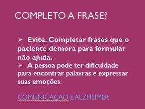Comunicação e Alzheimer