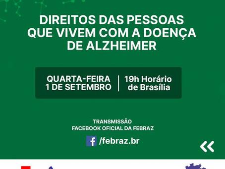 1o Setembro: Live Direitos do Paciente - Alzheimer pela FEBRAz
