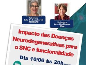 Live: Impacto das Doenças Neurodegenerativas para o SNC e funcionalidade.