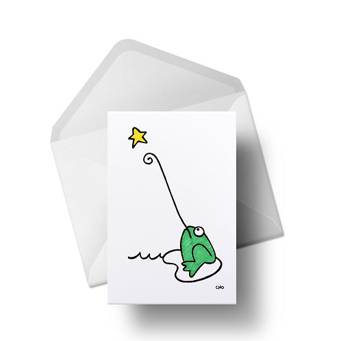 Wishing on a star | Greeting Cards