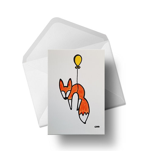 Crazy like a fox | Greeting Card