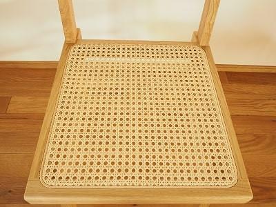 籐張りの座面