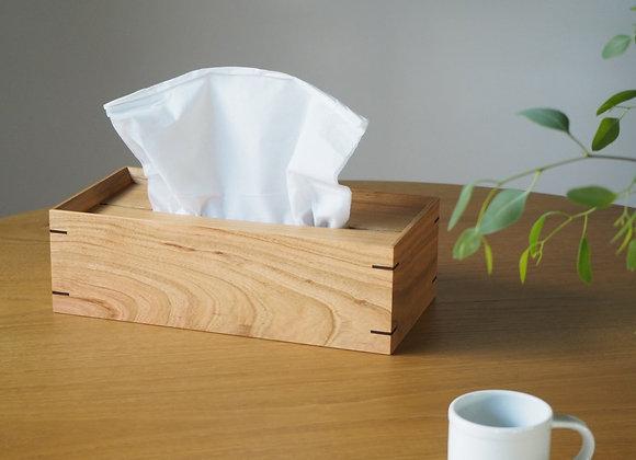 ヤマザクラ(山桜)の木のティッシュケース(ティッシュボックス)