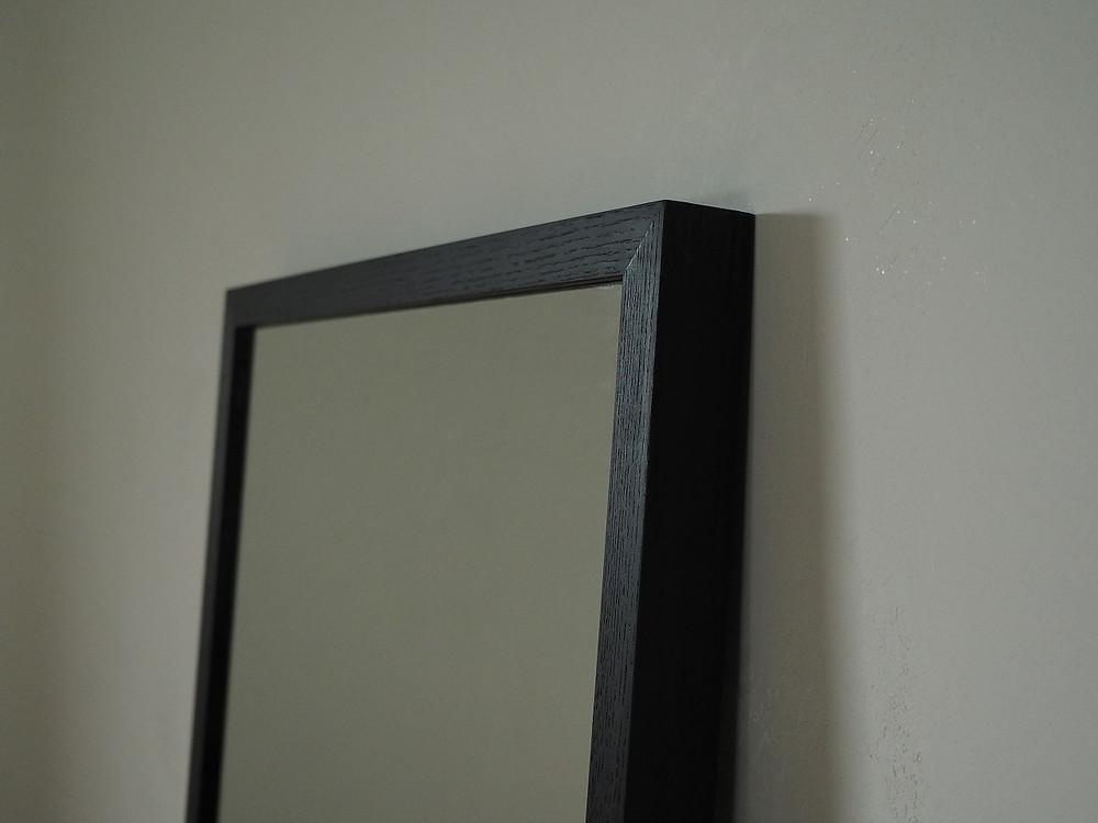 無垢材のウォールミラー(姿見、全身鏡)