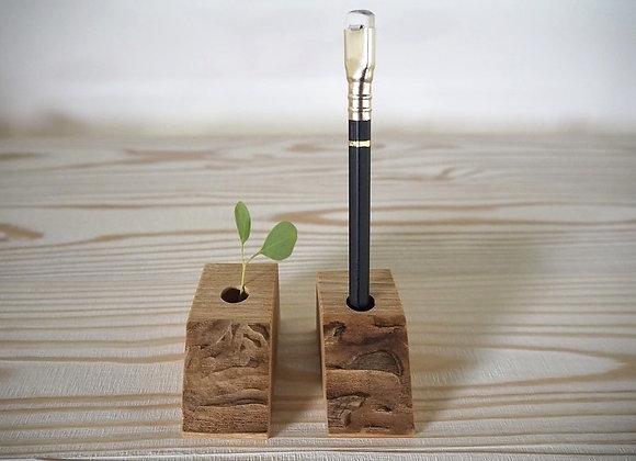 シオジ(国産材)で作ったペン立てです。
