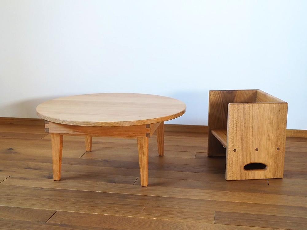 箱イスと合わせれば子供用テーブルになるちゃぶ台