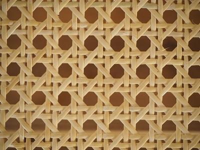 籐(ラタン)のカゴメ編み