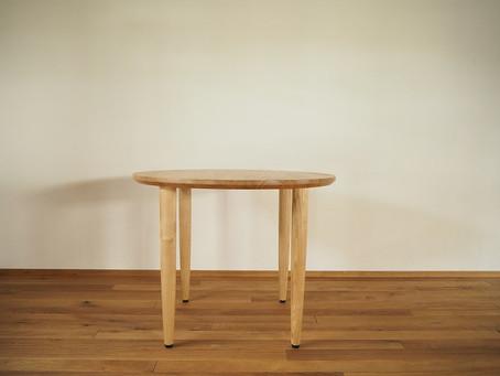栗の丸テーブル T-1
