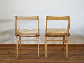 ラタンの椅子の経年変化