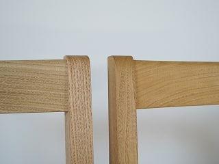ラタンの椅子の笠木